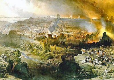 Die vernietiging van die Joodse tempel