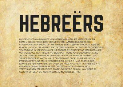 Die vroegste manuskripte van hierdie wonderlike, majestieuse en soms moeilike preek-brief bevat die titel 'Aan die Hebreërs'.