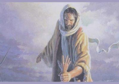 Jesus red Petrus uit die water