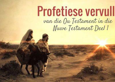 Op watter verskillende maniere word die Ou Testament in die Nuwe Testament profeties vervul