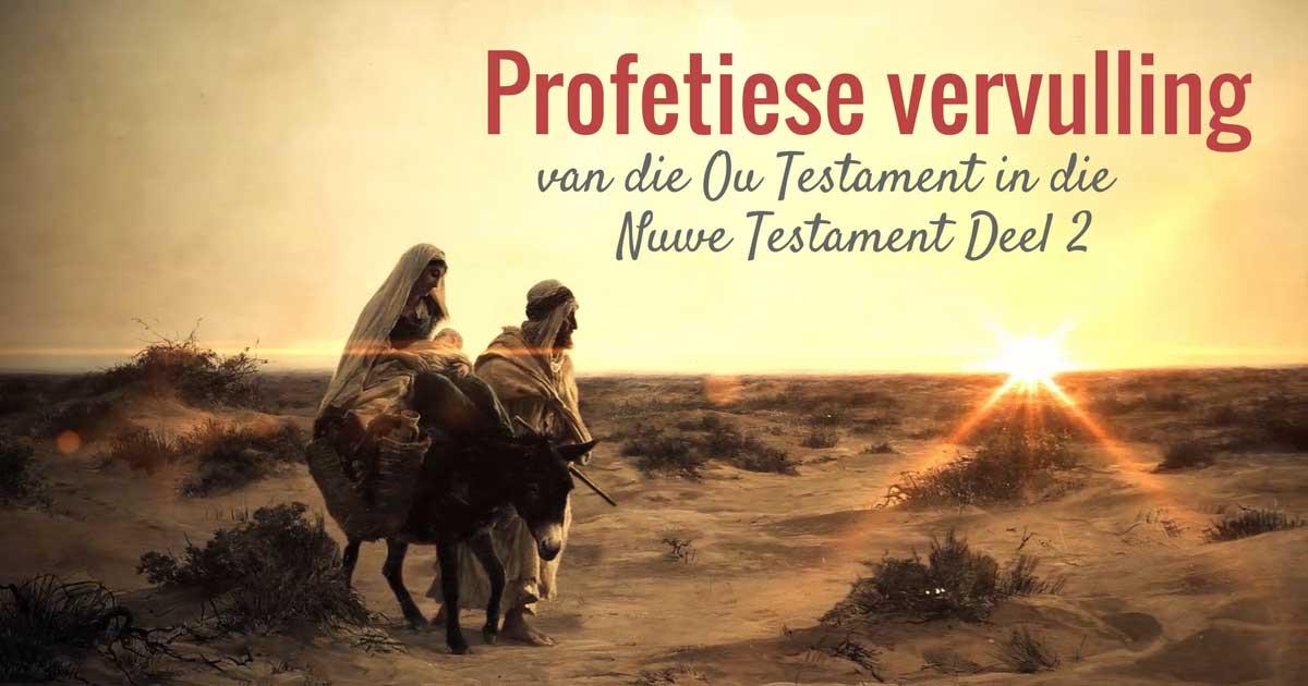 Die vervulling van die Ou Testamet in die Nuwe Testament is 'n ontsettende belangrike aspek vir die leer oor die eindtye.