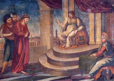 """Tydens 'n siviele verhoor vra Pilatus vir Jesus of hy die Koning van die Jode is. Jesus antwoord: """"My koninkryk is nie van hierdie wêreld nie; as my koninkryk van hierdie wêreld was, sou my dienaars geveg het, dat Ek nie aan die Jode oorgelewer word nie. Maar nou is my koninkryk nie van hier nie"""" (Joh 18:36; OAV). Baie vervangingsteoloë, veral amillennialiste, gebruik hierdie teks om te beweer dat Christus se koninkryk heeltemal geestelik is en dat Jesus nooit bedoel het om 'n letterlike koninkryk op die aarde te vestig nie. Hierdie misverstand moet aangespreek word."""